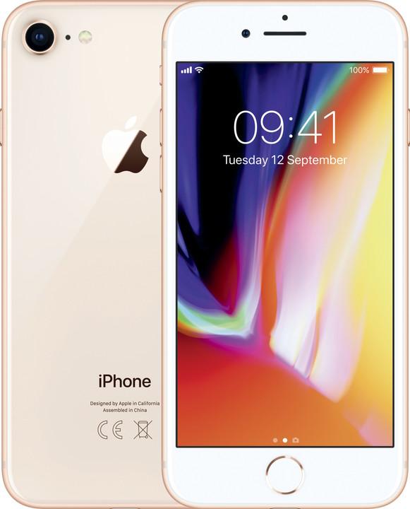 Apple iPhone 8, 128GB, zlatá