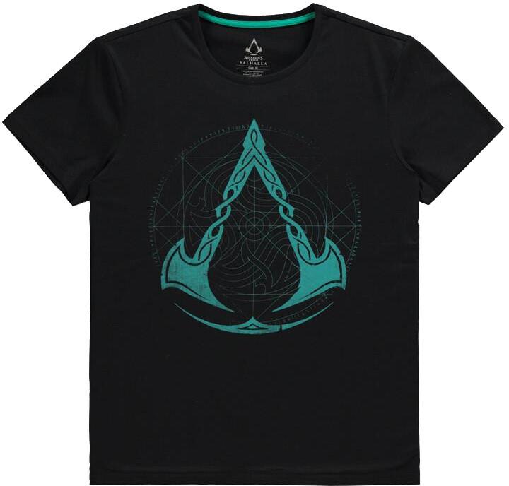 Tričko Assassins Creed: Valhalla - Crest Grid (L)