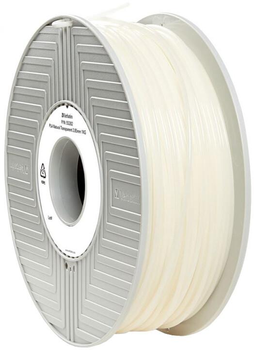Verbatim tisková struna (filament), PLA, 2,85mm, 1kg, transparentní
