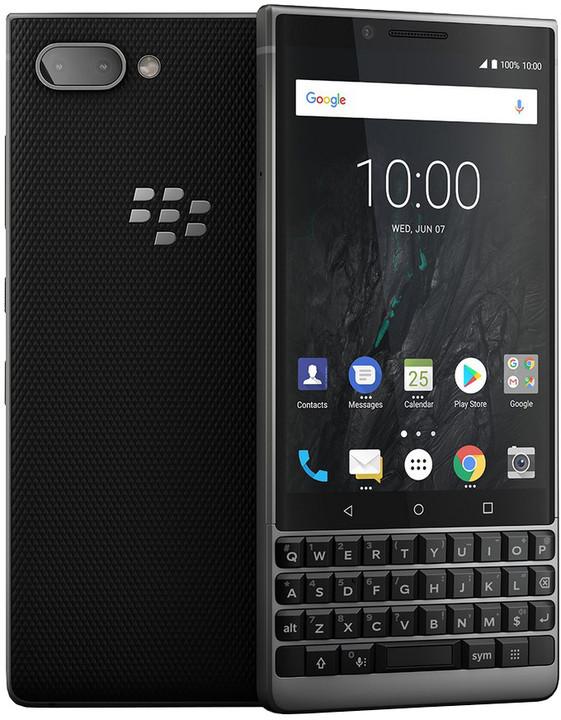 Blackberry Key 2 Athena, 6GB/64GB, stříbrná