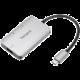 Targus hub USB-C - USB 3.0, USB-C, HDMI, 4K@30Hz, PD, 100W, stříbrná