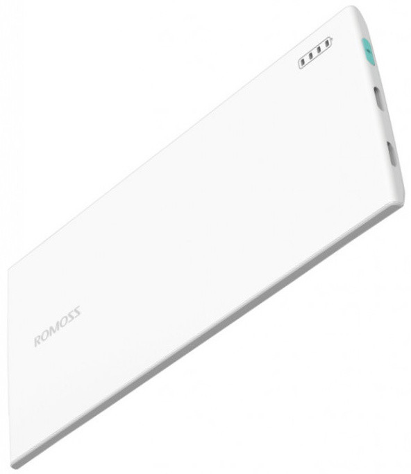 ROMOSS skinny PG 01 Power Bank, 3000mAh, White