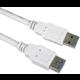 PremiumCord prodlužovací kabel USB-A 3.0, 1m, bílá