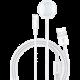 USAMS bezdrátová nabíječka 2v1 pro Apple iPhone/Watch, bílá
