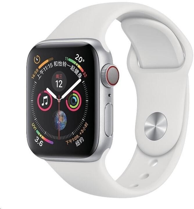 COTEetCI silikonový řemínek pro Apple Watch, 42/44mm, bílá