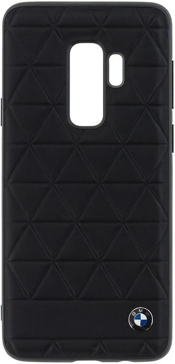 BMW Hexagon Leather Hard Case Black pro Samsung G965 Galaxy S9 Plus