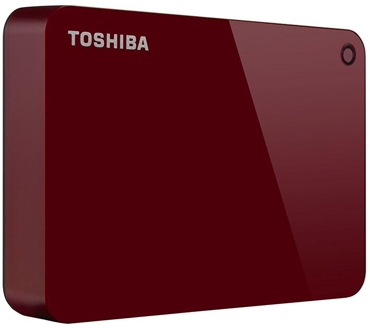 Toshiba Canvio Advance - 3TB, červená