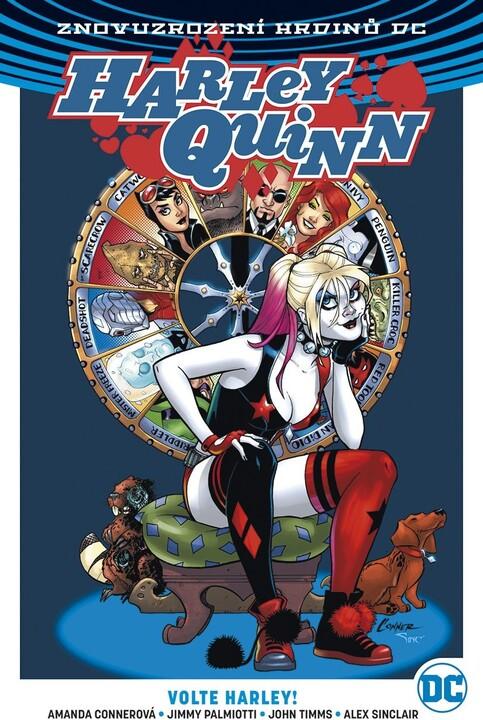 Komiks Znovuzrození hrdinů DC: Harley Quinn 5: Volte Harley!