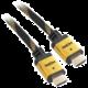 Kabel HDMI 1.4 high speed, ethernet, M/M, 1,5m, opletený, pozlacený, černá barva (v hodnotě 299,-)