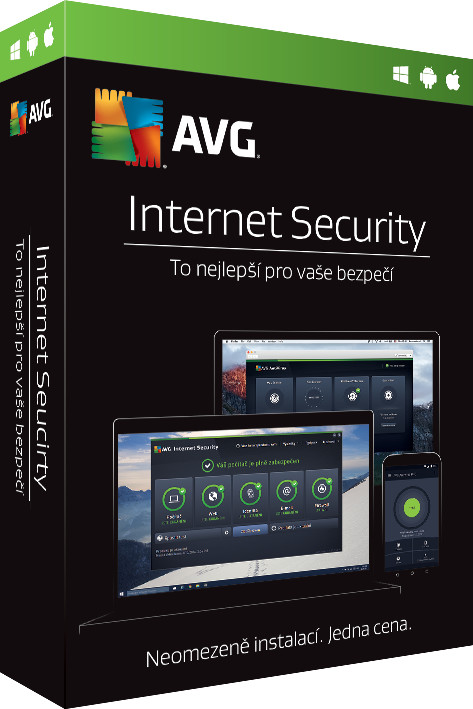 AVG Internet Security - Unlimited, (12 měs.)