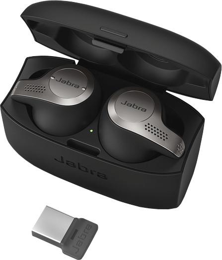 Jabra Evolve 65t, MS (USB dongle), titanově černá