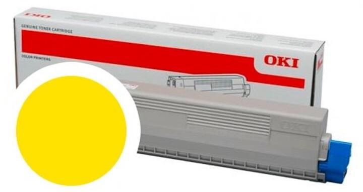 OKI 47095701, žlutá