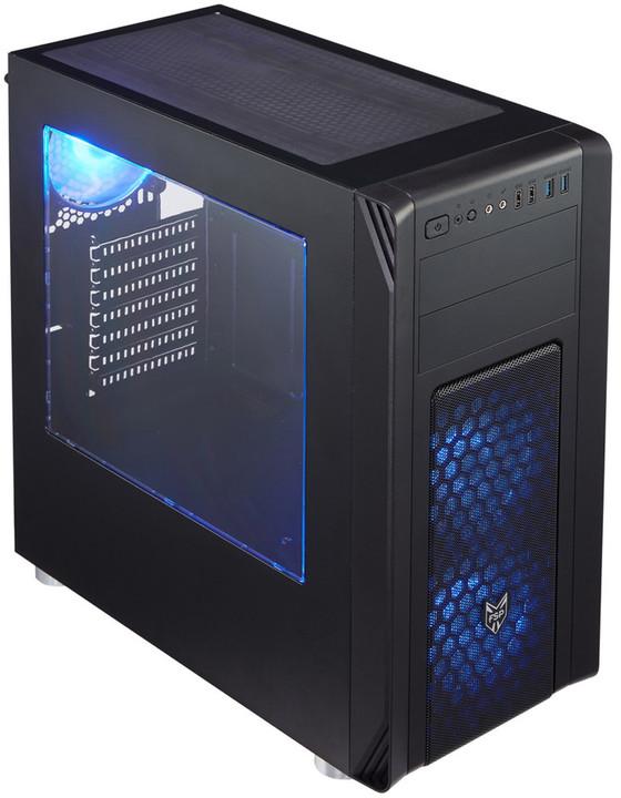 Fortron CMT230, okno, černá