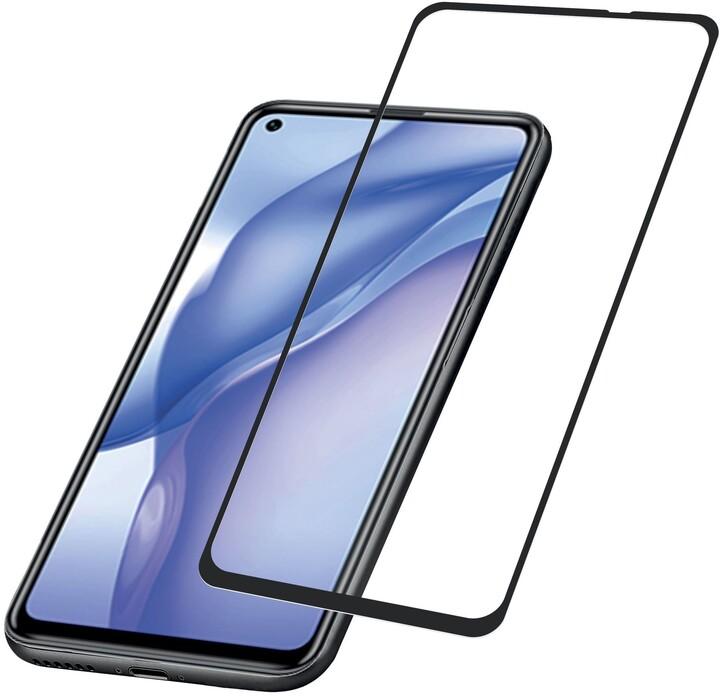 Cellularline tvrzené sklo Capsule pro Huawei Mate 40 Lite E, na celý display, černá