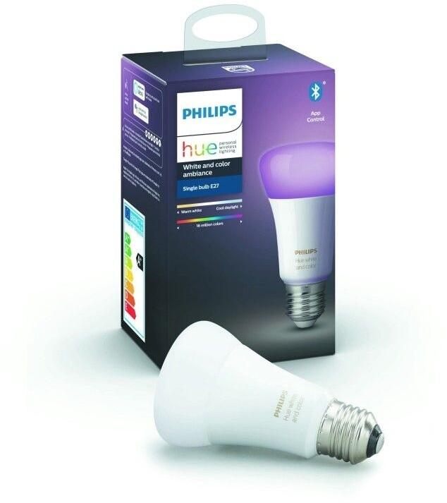 Philips žárovka Hue E27, LED, RGB, 9W, 16 mil. barev - 2. generace s BT
