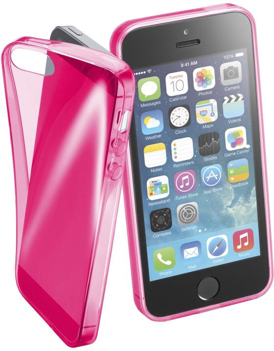 CellularLine FLUO barevné gelové pouzdro pro Apple iPhone 5/5S/SE, růžové