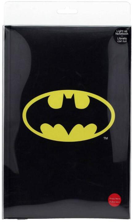 Zápisník DC Comics - Batman, svítící, linkovaný (A5)