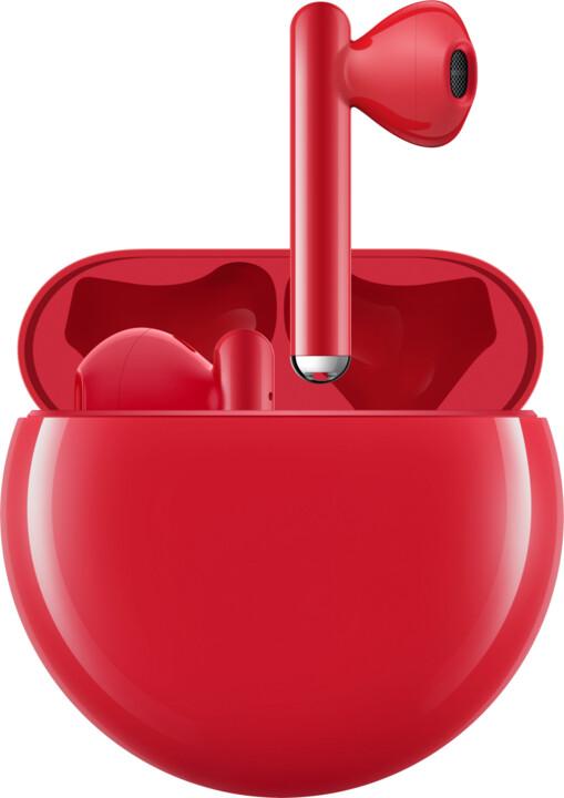 Huawei FreeBuds 3, červená