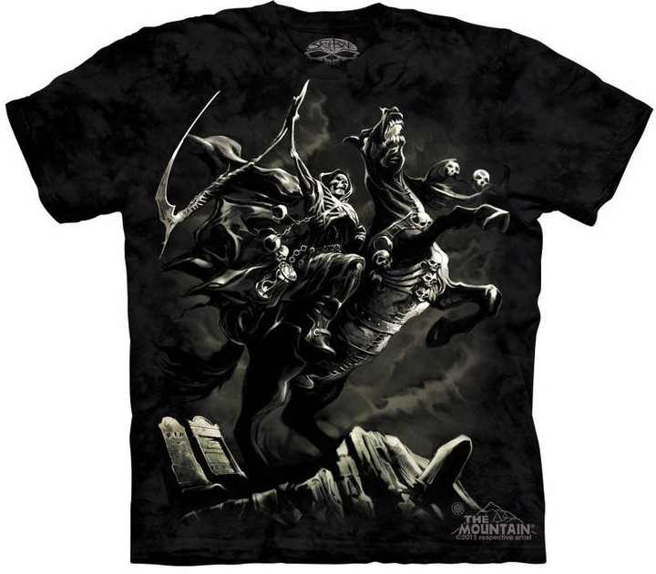 Tričko The Mountain Pale Horse, černá (US L / EU XL)