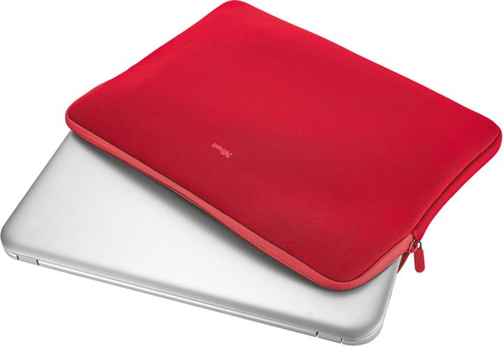"Trust Primo Soft Sleeve for 15.6"", červená"