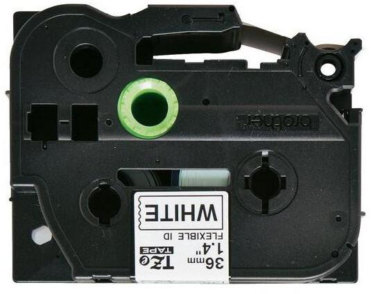 Brother TZE-FX261, bílá/černá, 36mm
