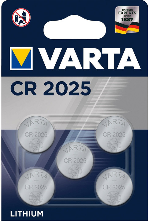 VARTA CR2025, 5ks