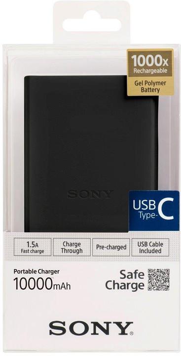 SONY CP-V10BBC, 10000mAh, USB-C, černá