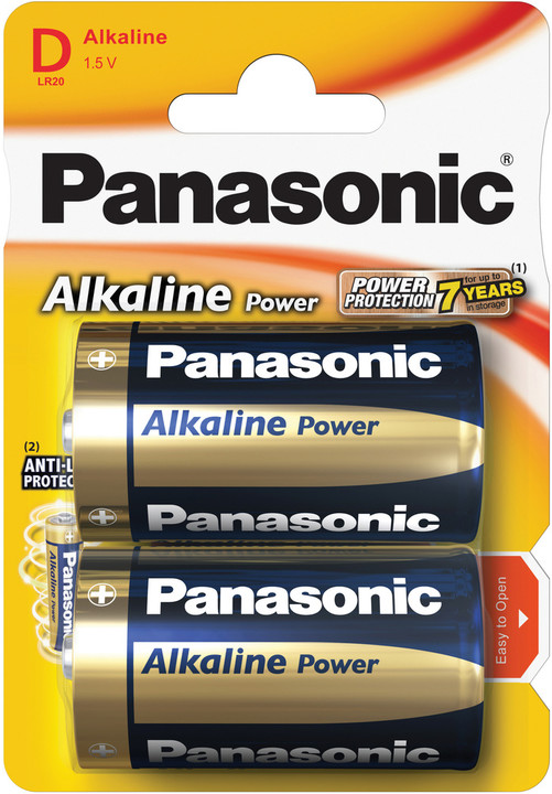 Panasonic baterie LR20 2BP D Alk Power alk