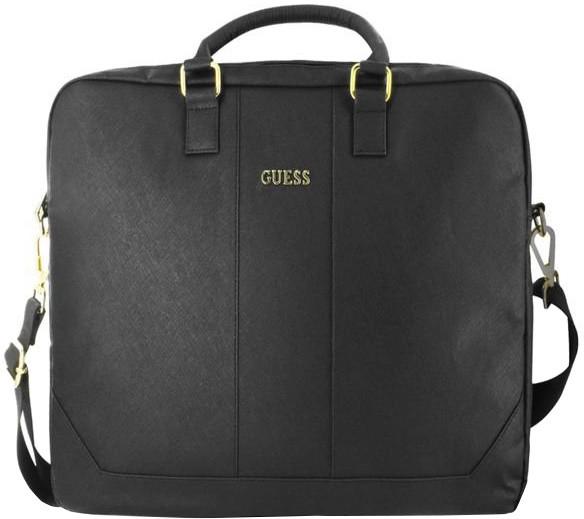 """GUESS Saffiano Look Computer Bag 15"""" Black"""