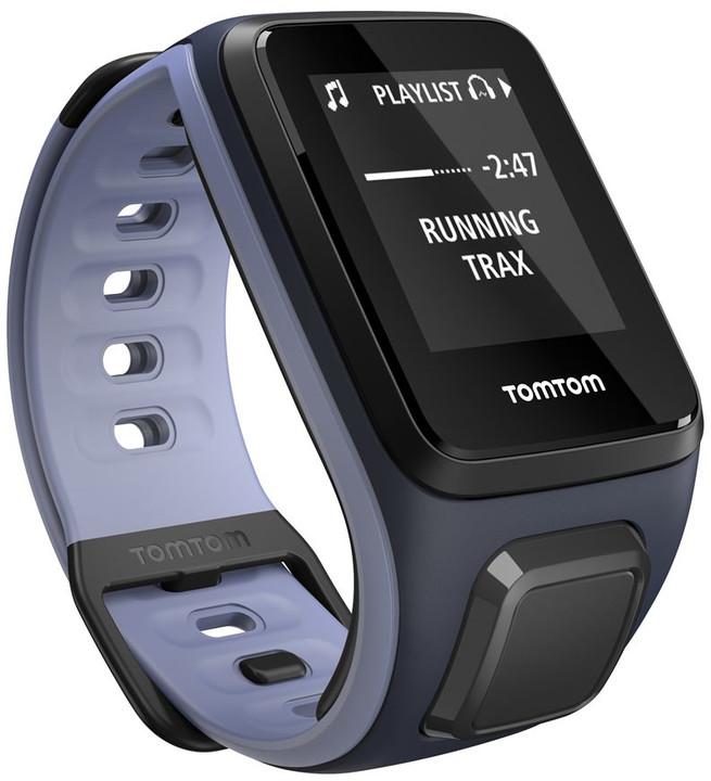 TOMTOM Runner 2 Cardio + Music (velikost S), modrá/fialová