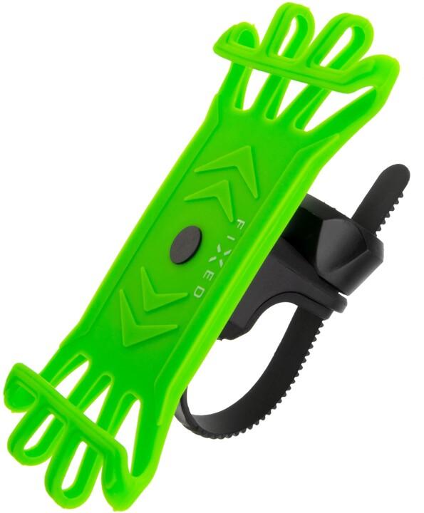 FIXED silikonový držák Bikee pro mobilní telefon, na kolo, limetková