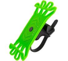 FIXED silikonový držák Bikee pro mobilní telefon, na kolo, limetková - FIXBI-LI