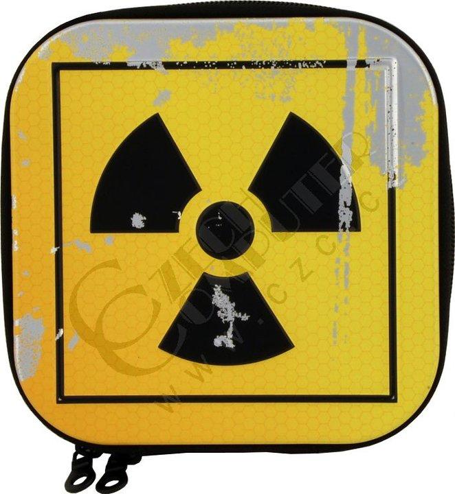 Box na 24 CD, kovový, žlutý - radiace