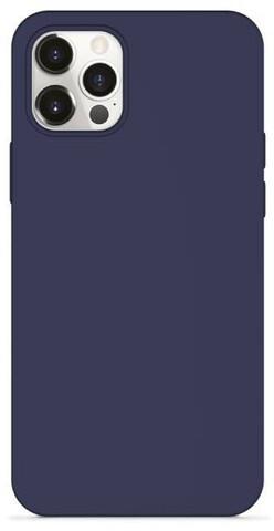 EPICO silikonový kryt Magnetic pro iPhone 12/12 Pro, kompatibilní s MagSafe, modrá