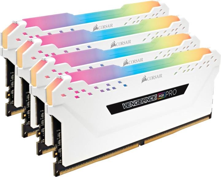 Corsair Vengeance RGB PRO 32GB (4x8GB) DDR4 3200, bílá