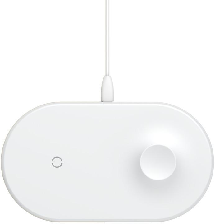 Baseus bezdrátová nabíječka Smart 2-in-1, bílá