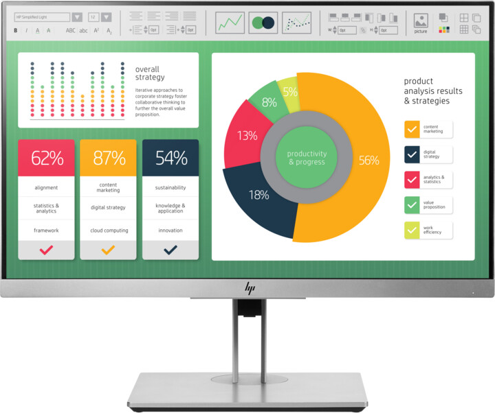 "HP EliteDisplay E223 - LED monitor 21,5"""