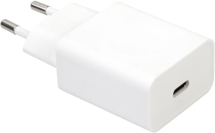 MAX nabíječka USB-C 18W, bílá