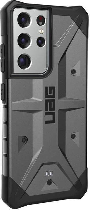 UAG ochranný kryt Pathfinder pro Samsung Galaxy S21 Ultra, stříbrná