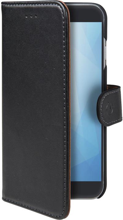 CELLY Pouzdro typu kniha Wally pro Honor 7A, PU kůže, černé