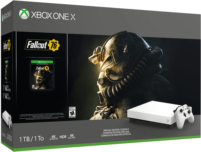 XBOX ONE X, 1TB, White Limited Edition + Fallout 76