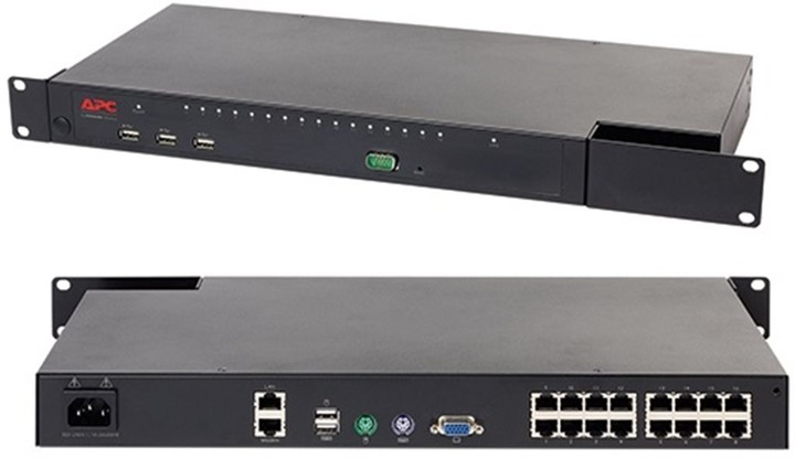 APC KVM 2G, Digital/IP, 1x Remote User, 1x Local User, 16x ports with Virtual Media