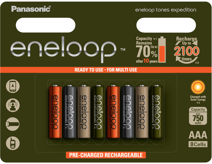 Panasonic ENELOOP HR03 AAA 4MCCE/8RE 750mAh Expedition pack