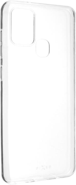 FIXED ultratenké TPU gelové pouzdro Skin pro Samsung Galaxy A21s, 0.6 mm, čirá