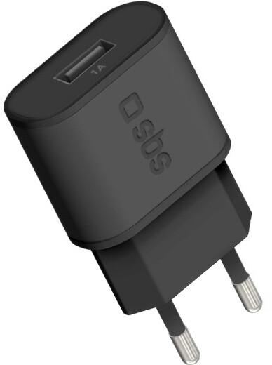 SBS Cestovní adaptér,1x USB, 1000 mA, černá