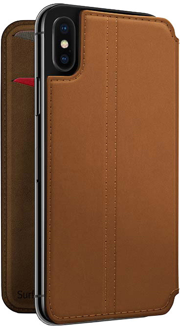 TwelveSouth SurfacePad for iPhone X - cognac
