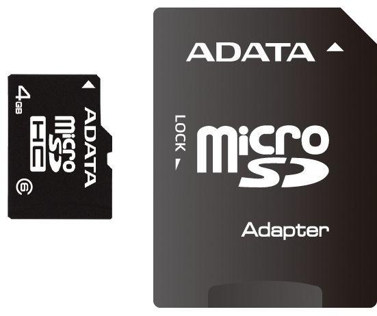 ADATA Micro SDHC 16GB Class 4 + adaptér
