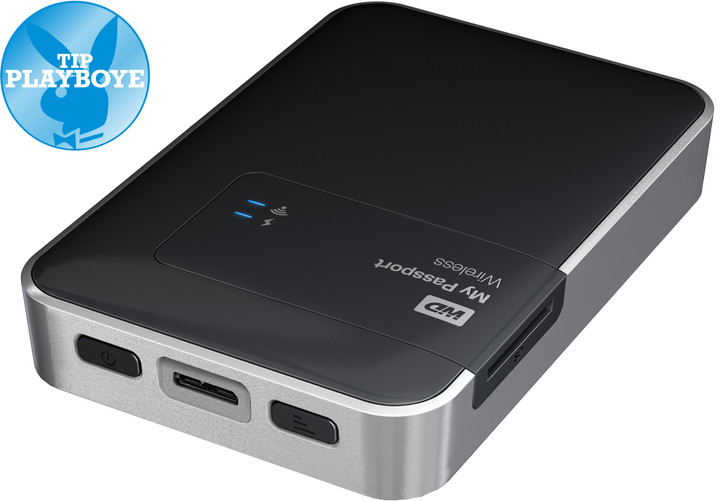 WD My Passport Wireless - 1TB, černá