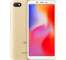 Xiaomi Redmi 6A, 2GB/16GB, zlatá  + 500Kč voucher na ekosystém Xiaomi