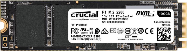 Crucial P1, M.2 - 1TB